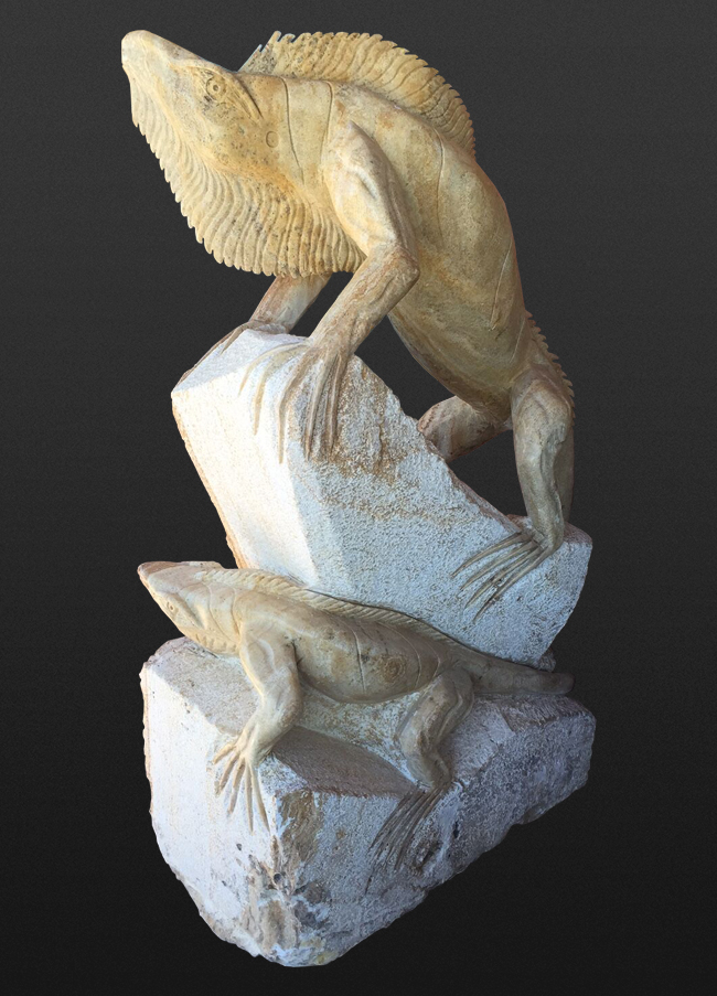 Lizard Sculpture